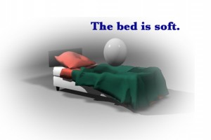 the bed is soft