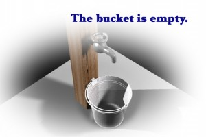 bucket is empty